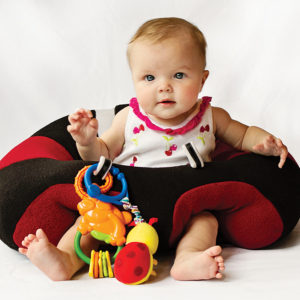 Hugaboo provides soft support when little ones want to sit up