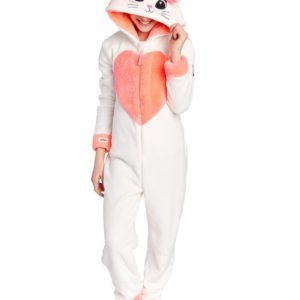 Soft Furry Pink Unicorn Onesie