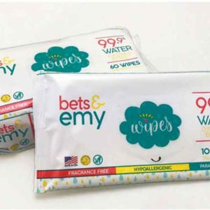 Bets & Emy introduces wipes that are hypoallergenic and 99.9% water