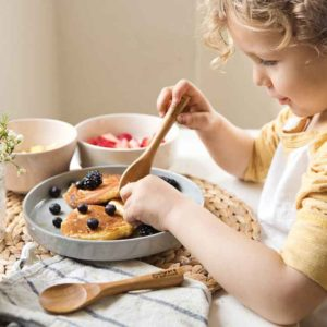 Miniware sustainable tableware transitions from baby to toddler