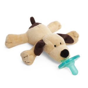 WubbaNub Pacifier combined with stuffed animal founded from necessity
