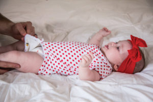 velcro for easy diaper changes